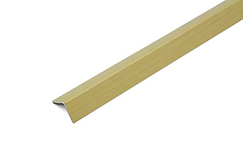 Dalsys Treppenprofil Treppenkantenprofil, Kantenschutz Alu, Länge 100 cm, selbstklebend, Furnier