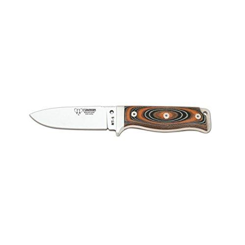 Cuchillo de supervivencia MT-5 Cudeman 120-W con mango micarta hoja 11cm y funda, uso deportivo, herramienta de camping para pesca, caza, actividad deportiva + tarjeta multiusos de regalo