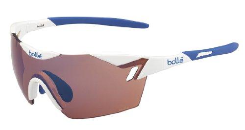 Bollé (CEBF5) 6Th Sense Gafas, Unisex Adulto, Blanco (Shiny) / Azul, L