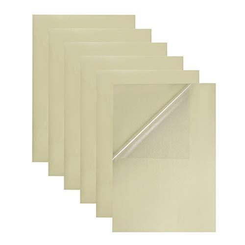 BENECREAT 30 PCS Etiqueta Adhesiva Pet Transparente en Blanco A4, Solo para Impresora de Láser, Etiqueta de Comida y...