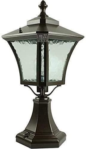 Suge Americana al aire libre lámpara del poste Balcón Patio Terraza Puerta Villa Jardín Linterna impermeable IP56 columna Baliza Luz de aluminio de cristal Paisaje Poste al aire libre de la linterna