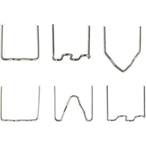 Fauge Kits de Soldadura de MáQuina de PláStico con Grapadora Caliente de 600 Piezas para Herramienta de ReparacióN de Parachoques de AutomóViles para Todos los Coches, 6 Tipos