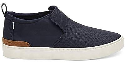 TOMS Men's Paxton Shoe Navy Textural Canvas/Nylon Water Resistant Size 11.5
