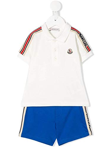 Moncler Luxury Fashion Baby 8M706208496F034 Weiss Elastan Poloshirt | Frühling Sommer 20