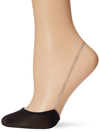HUE Women's Slingback Sheer Liner with Aloe, black, One Size