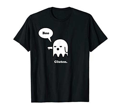 Funny Gluten Free Shirts, Halloween Ghost Boo, I Hate Gluten T-Shirt