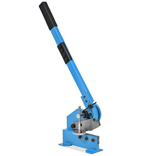 vidaXL Cesoia a Leva 125 mm Blu Troncatrice Manuale Attrezzo Taglio Lamiera