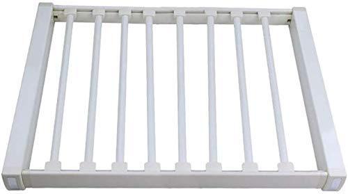 Hanger Verstelbare Breedte Broek Plank Broek Houder Hanger Rail Uittrekbare Rek Organizer Hangers Eenvoudige Installatie Verwijderbare Stang Aluminium (Maat: 46,5 * 66,4 cm)