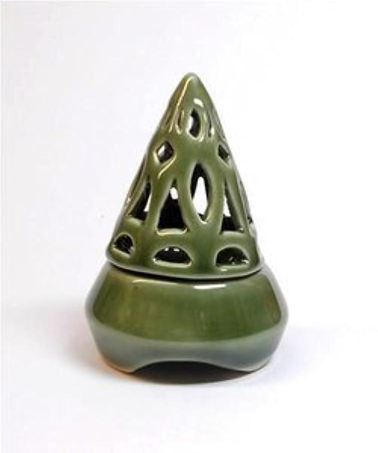 同行する提供オープナー香炉コーン型 緑 インセンス ホルダー コーン用 お香立て アジアン雑貨