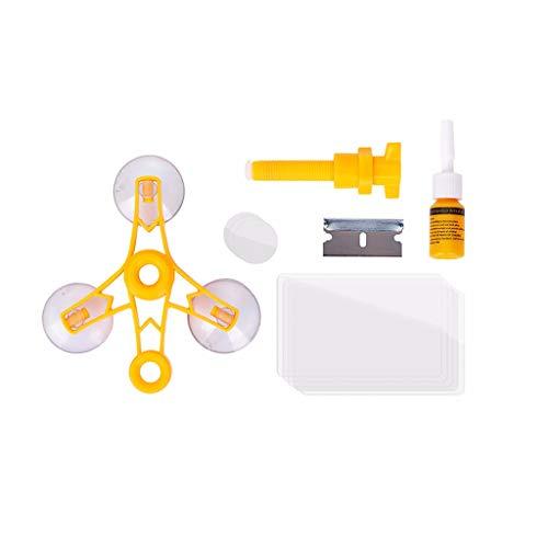 HINK Barre de Pression Kit d'outils de réparation Automatique de Voiture pour Pare-Brise Bricolage Puce de Verre à Vent Crack Fix 20Ml Outils pour la Maison et Le Jardin et Bricolage