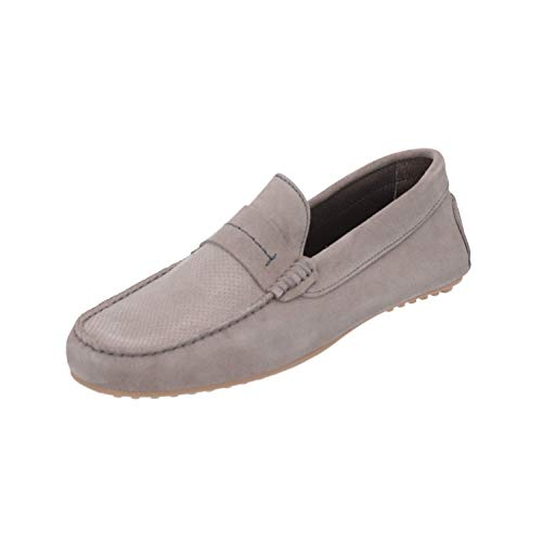Burton Menswear London Hopkins Driving Loafer Herren Loafer Grau Slip-Ons, Größe:EUR 45