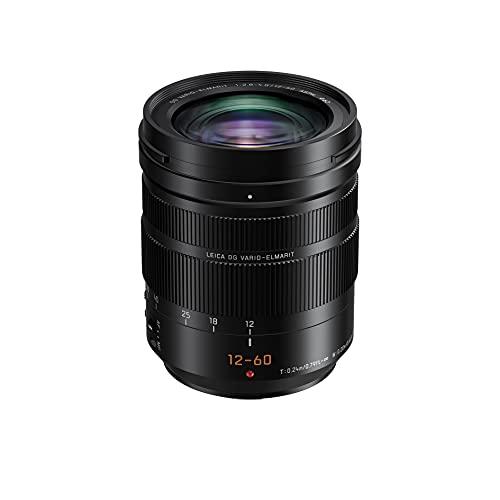 Panasonic H-ES12060E Leica DG Vario-Elmarit Kamera Objektive (12-60mm/F2.8-4.0, Standardzoom, Dual I.S., Staub- & Spritzwasserschutz, schwarz)