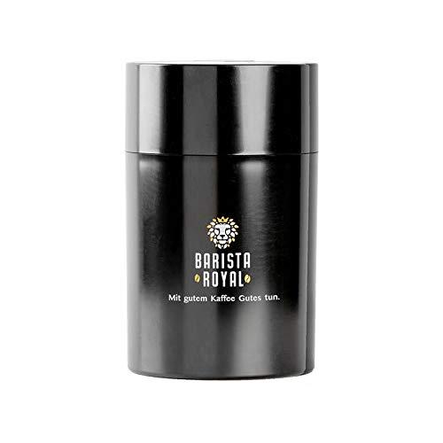 Barista Royal Kaffee Vakuumdose | für 500g ganze Kaffeebohnen oder gemahlen | ideal zum Aufbewahren | Aromaschutz für Kaffee | Luftdicht | Elegantes Design in Premiumqualität