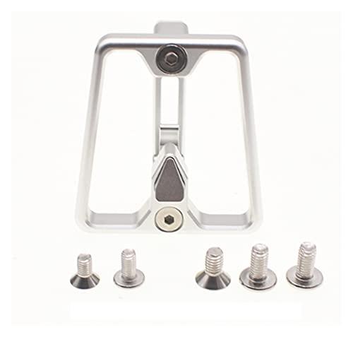 CML Bloque del Portador Delantero de la Bicicleta Plegable Ajuste para 2 3 Hoyos Brompton 3Sixty Pikes Camp Dahon Tern Java Fnhon Crius Bicicleta Plegable (Color : Silver Carrier Block)