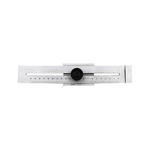 XJF 0-200mm Tornillo de corte de marcado calibre marca raspador acero al carbono graduación 0.1mm herramienta para la medición de carpintería