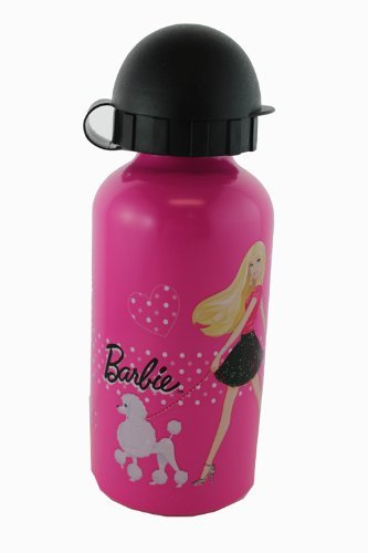 Barbie Botella de agua de aluminio para niños.