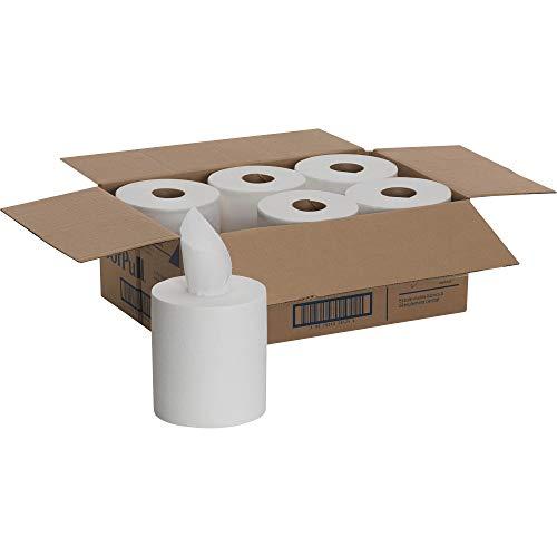 SofPull Regular Centerpull Premium Paper Towel by GP PRO (Georgia-Pacific), White, 28124, 324 Sheets Per Roll, 6 Rolls Per Case