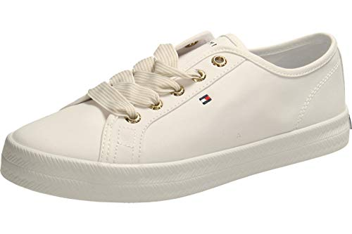 Tommy Hilfiger Damen Essential Nautical Sneaker, Weiß (White Ybs), 38