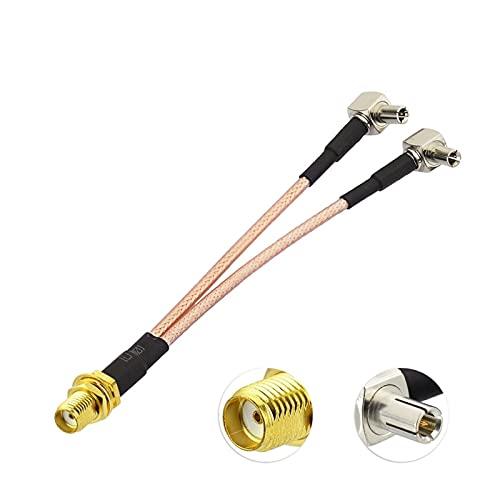 XIAO YANG SMA Masculino/Dual TS9 Conector 5dbi 3G 4G LTE Ajuste de la Antena Impermeable del Soporte de Pared para NetGear Nighthawk M1 MR1100 Enrutador de Hotspot móvil
