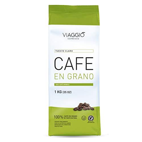 Viaggio Espresso Chicchi di caffè tostati 100{e69a6481f2f190607bcd379ba63f3ba5f8bd3313028f97dd9335ec80de26ae57} caffè Arabica Arrosto leggero (1 Kg)