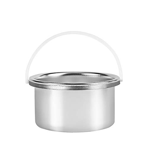 Wax Warmer Inner Pot Portable Hair Removal Waxing Bowl Waxing Warmer Replacement Pot for 400 cc 14 oz Hair Remover Machine Paraffin Care on Face Body,Silver