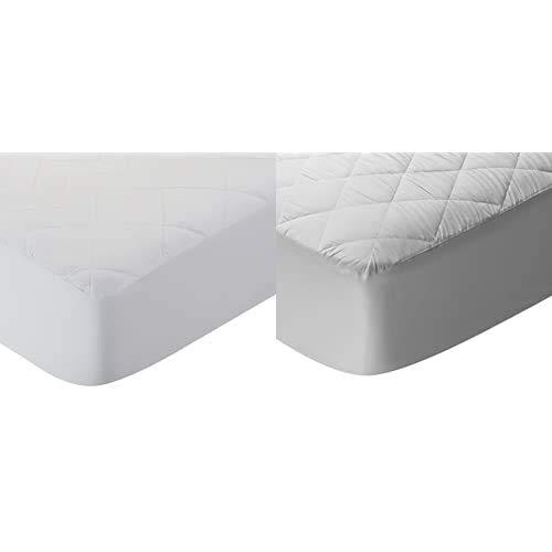 Pikolin Home - Cubre colchón Acolchado, antialérgico (antiácaros, bacterias y Moho), Impermeable + - Protector De Colchón/Cubre Colchón Acolchado, Impermeable, Antiácaro