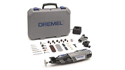 Dremel 8220 Akku Multifunktionswerkzeug 12V Set (mit 45 Zubehören und 2 Vorsatzgeräten, Variable Drehzahleinstellung 5.000-35.000 1/min zum Schleifen, Schneiden, Schärfen, Polieren, Reinigen)