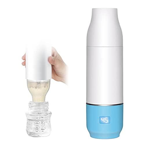 SHINAN Portátil USB Viaje Bebé Botella Calentador Termostato Calentador de leche Pantalla...