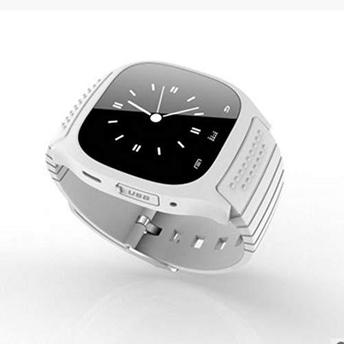 Swiftswan Reloj Inteligente Deportivo con Bluetooth, Reloj de Pulsera de Lujo M26 con dial SMS recordatorio podómetro Reloj Inteligente para Android, Blanco