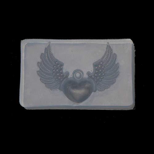 Incdnn Moules en silicone avec pendentif en forme de cerf en forme de cœur et d'oiseau, Silicone, 12, as shown