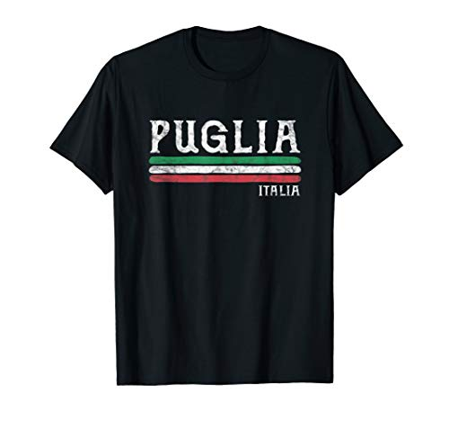 Apulien Italien Italienische Flagge Souvenirs Geschenk T-Shirt