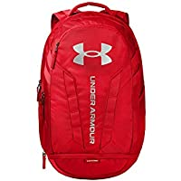 Under Armour Adult Hustle 5.0 Backpack (Red/Silver)