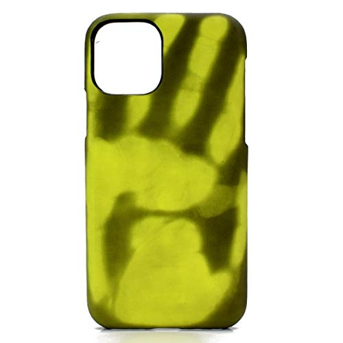Wdckxy PC Sensore Termico Scoloramento Protettiva Posteriore Cover Trasparente Per iPhone 11 + Paste Skin (Colore: Nero diventa verde)