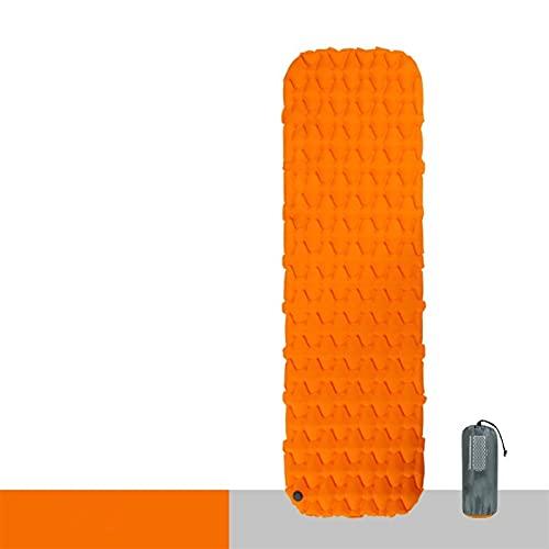 KJGHJ Nylon TPU Almohadilla para Dormir Liviana Colchón De Aire A Prueba De Humedad Portátil Colchón Inflable Portátil Colchón De Camping (Color : Orange)