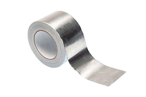 Aluminium-Klebeband, 50 m x 75 mm, hochwertiges, strapazierfähiges Klebeband von Gocableties, silber