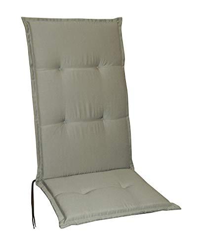 Schwar Textilien Gartenstuhlauflagen Stuhlauflagen Sitzauflagen Auflagen Hochlehner 5 Farben (Taupe)
