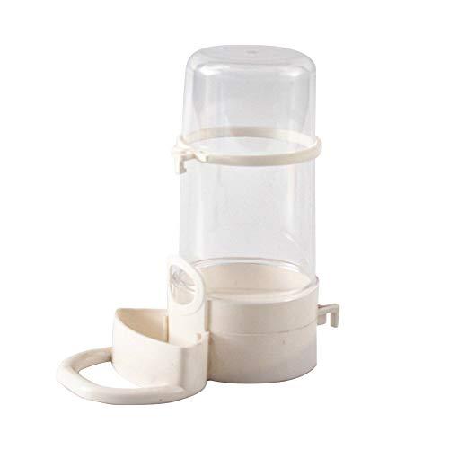 Souarts Futterspender Vögel Automatischer Wasserspender Clip Futternapf Trinkflaschen für Vögel Pet Trinken Container Wellensittiche, Papageien(Weiß)