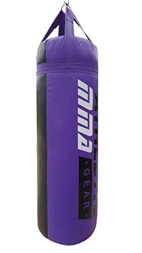 AthleticMMAGear 80lb Boxing/MMA Heavy Bag Filled Purple/Black