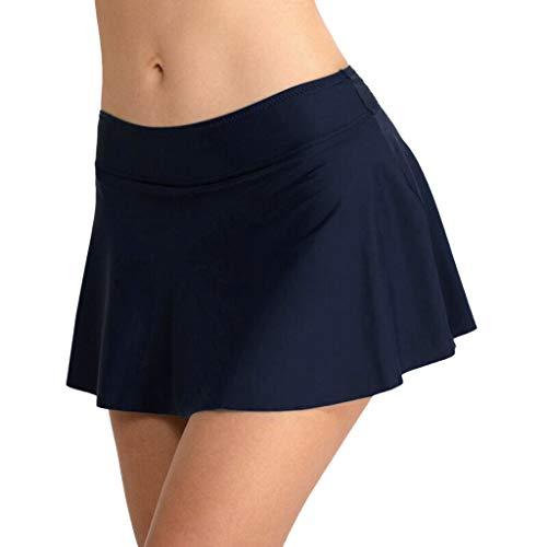 Falda Plisada Cintura Alta Mujer Nadar Troncos Shorts
