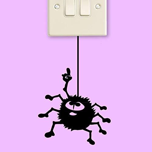 HNXDP KreativeLustige Wurm Schalter Aufkleber Cartoon Kinderzimmer Wanddekoration DIY Vinyl Adesivo Wandbild Kunst Aufkleber 5 STÜCKE