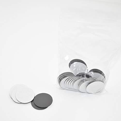 Takki Lot de 50 plaques magnétiques rondes avec fixation magnétique 20 mm
