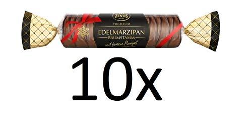 10 x Zentis Edelmarzipan Baumstamm mit feinem Nougat a 100g