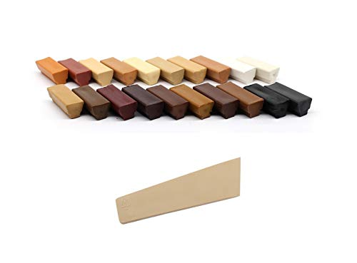 Bondex Wachskitt Set hell/dunkel Reparaturwachs zum Ausbessern von Laminat Parkett Treppen Holzboden und Möbel