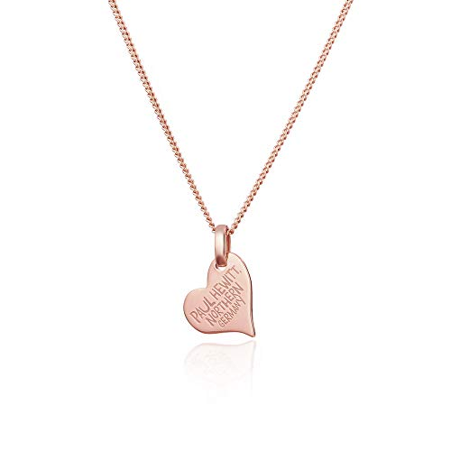 PAUL HEWITT Herz Halskette Damen North Love aus 925 Sterling Silber - Roségold vergoldet
