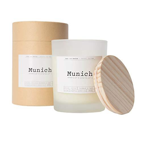 Lumaland Vela aromática Luma Lab, momentos aromáticos para el hogar, vela aromática de 100% cera de soja vegana, sostenible, vegana, elegante Home Munich
