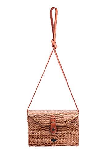 Rattan-Handtasche Rechteckig, 23x15x8cm, handgefertigt, EIN echtes Unikat