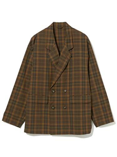 [ビームス] テーラードジャケット オンブレ チェック ダブルブレスト ジャケット メンズ BROWN_CHK S
