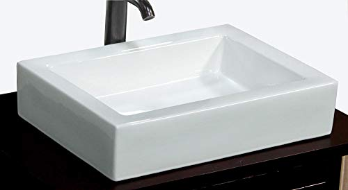 Discover Bargain Elimax's Bathroom Ceramic Porcelain Vessel Sink With Free Chrome Pop Up Drain (Desi...