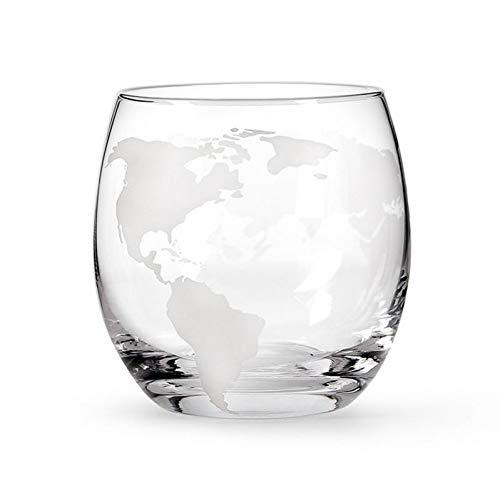 ZKGHJOKZ Whiskyglas 250 ml werelden kaarten Earth mok keramische koffie drinken Cup Globe Whisky wijnglas werelden kaarten creatieve geschenken magische mokken