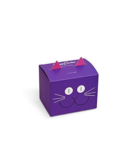 Happy Socks Unisex 1-Pack Cat Gift Box Socken, Mehrfarbig, 41-46